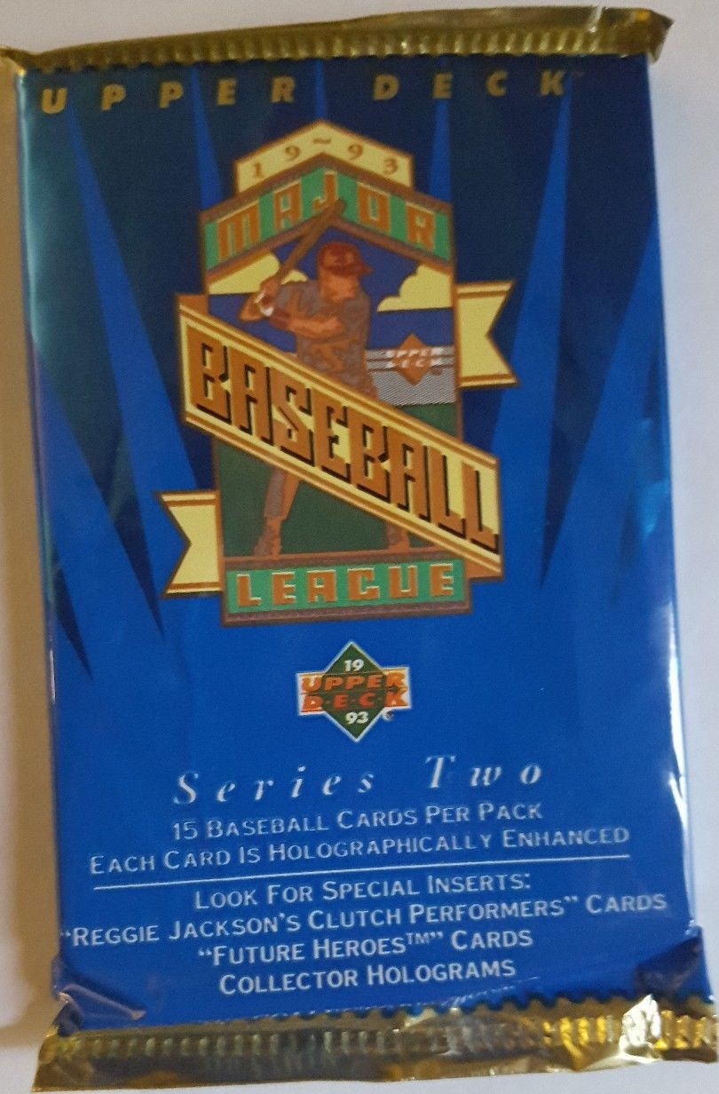 1993 Upper Deck Series 2 Baseball Trading Card Pack