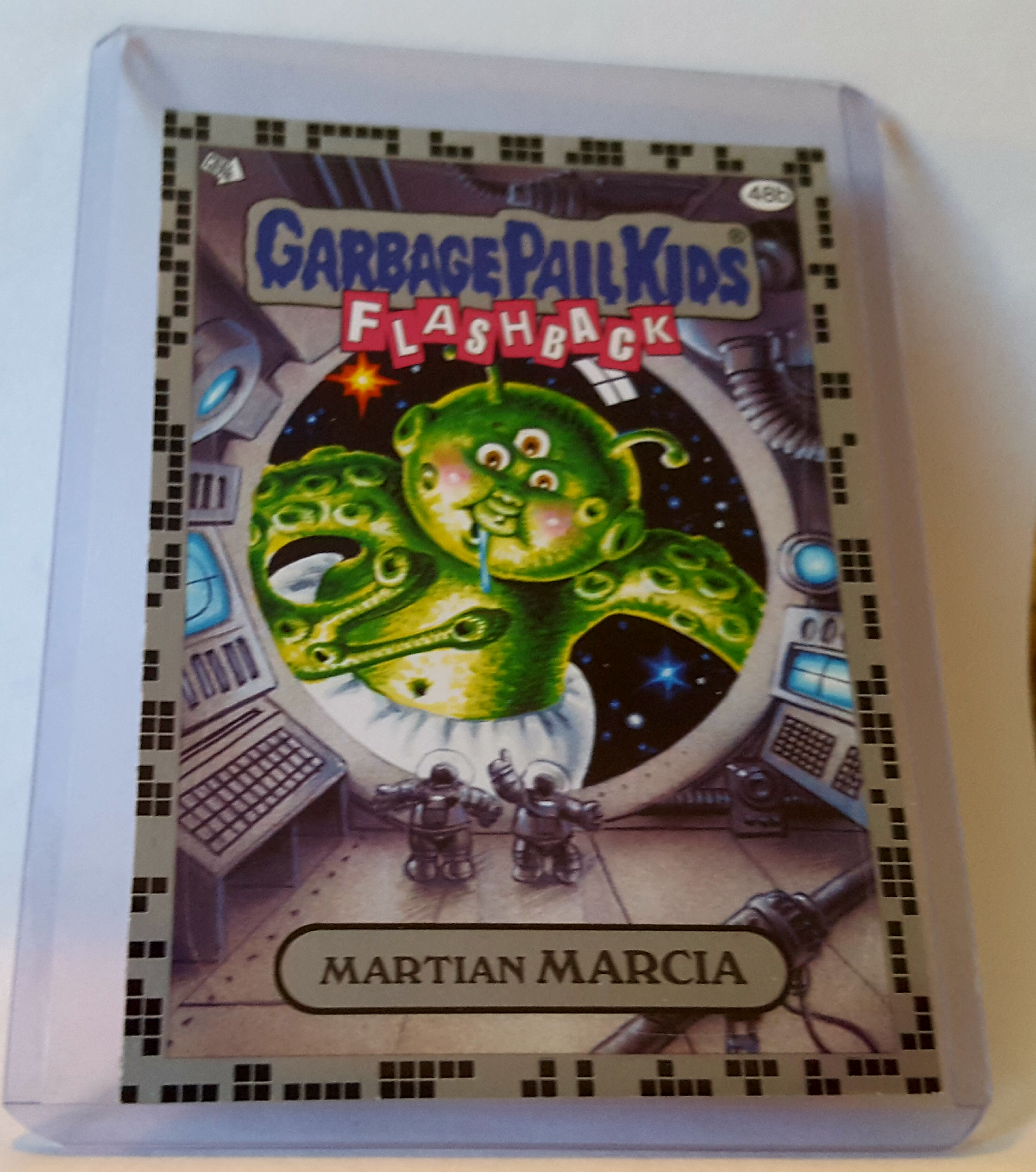 2011 Garbage Pail Kids Flashback Series 2 Martian Marcia Gray Border Trading Card