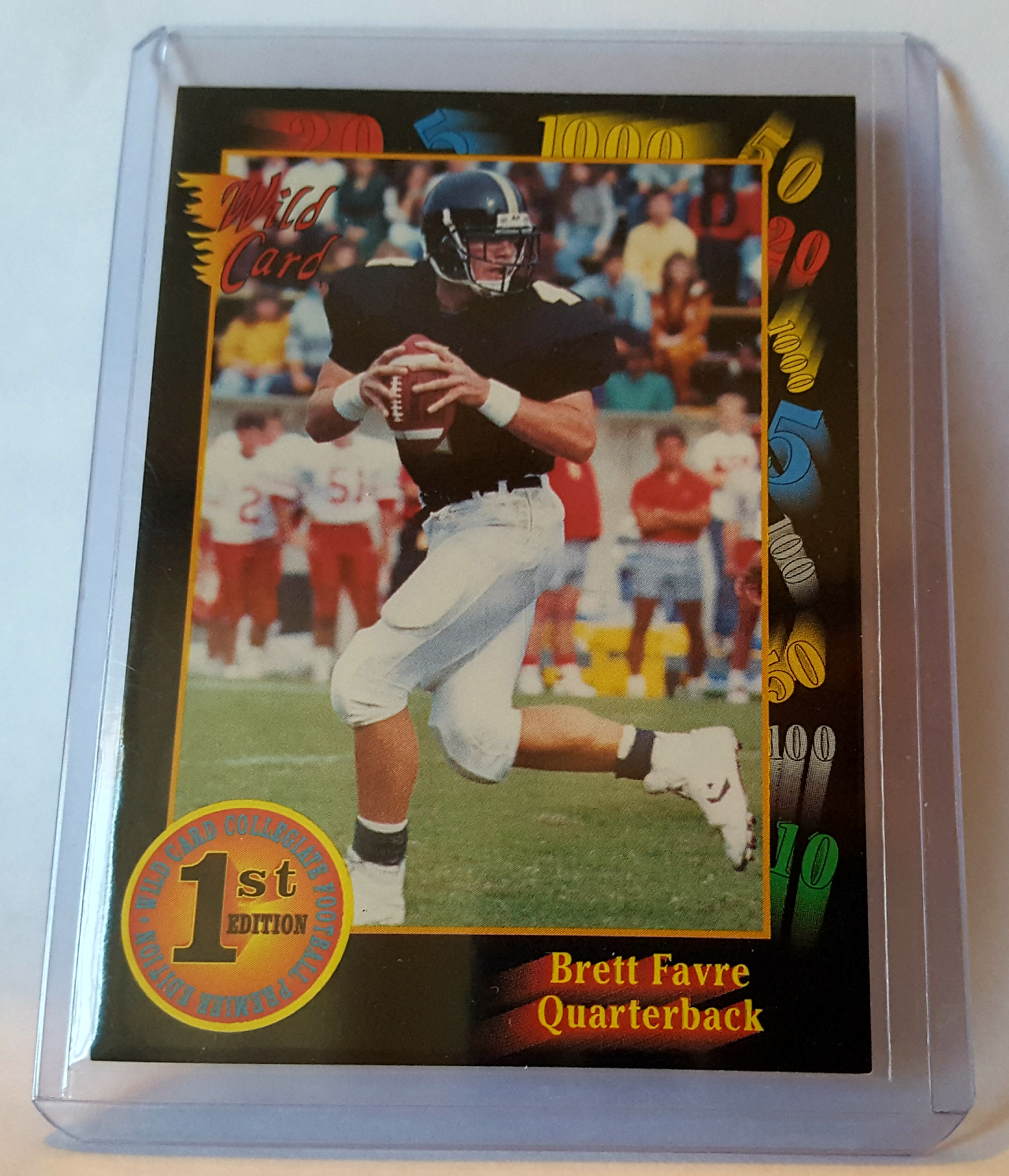 1991 Wild Card Football Brett Favre Rookie Card