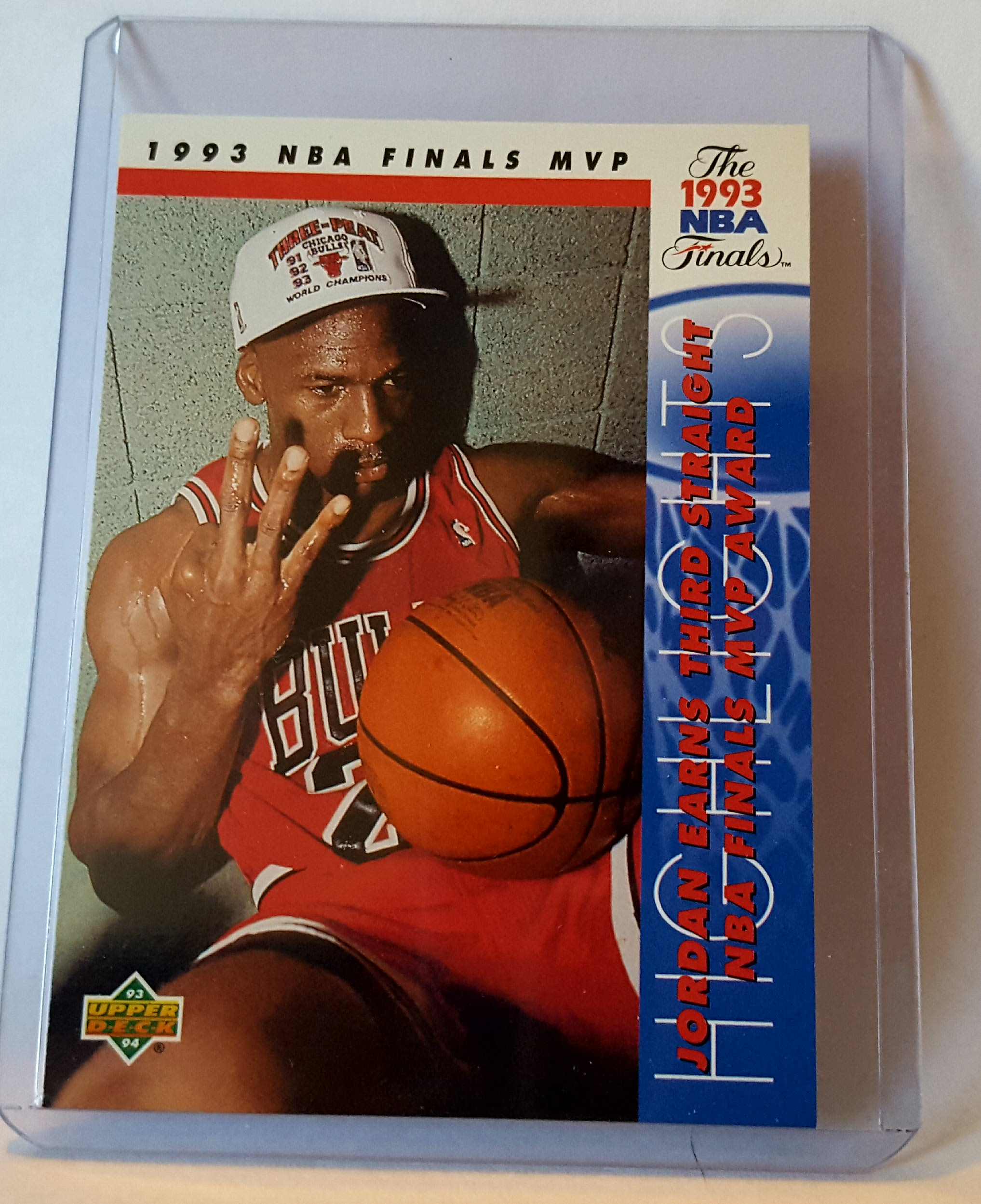 1993-94 Upper Deck Basketball Michael Jordan Finals Trading Card