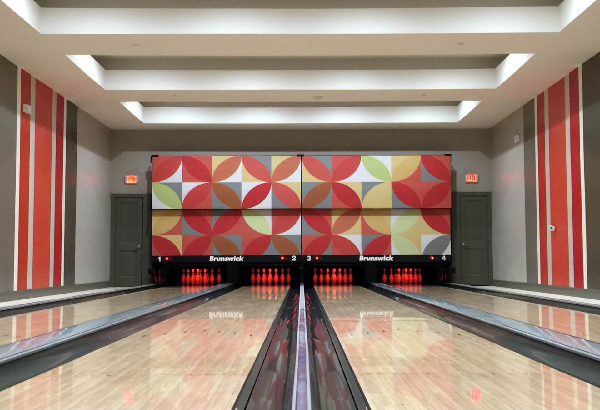Home Bowling Alley s & Amenity Bowling Lane Gallery