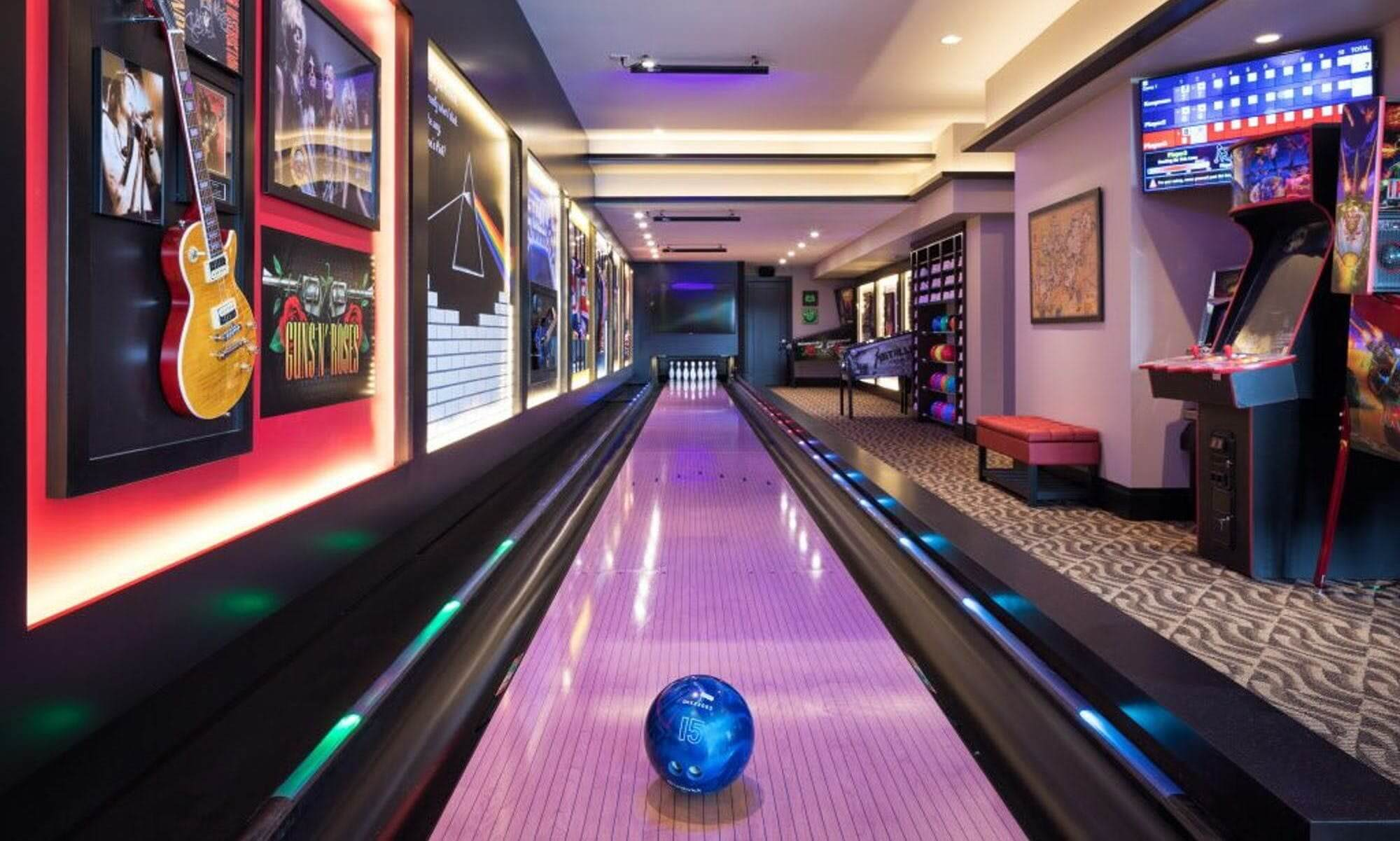 Home Bowling Alley Photos Amenity Lane Gallery