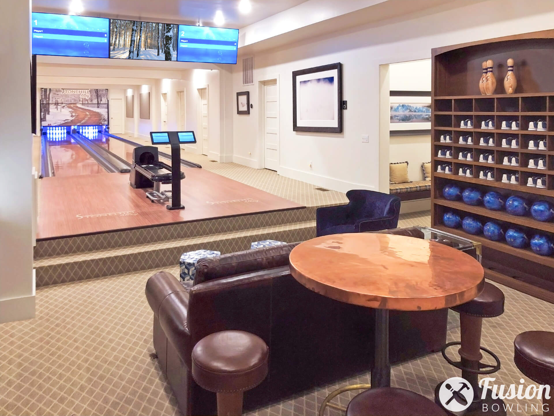 Custom Bowling Alleys in Homes