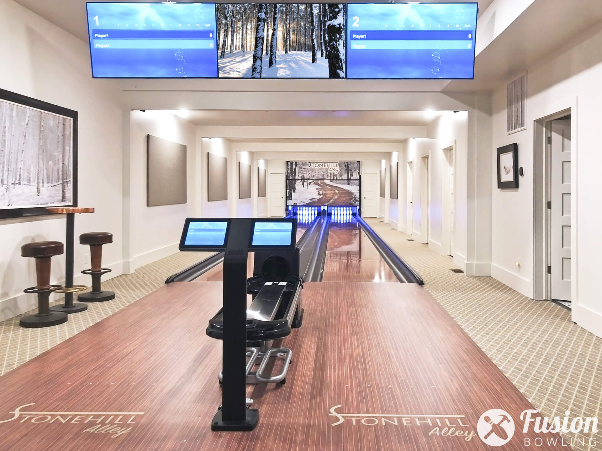 Design of a home bowling alley.