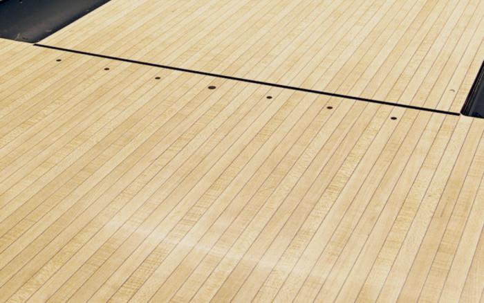 Butcher Block bowling lane color