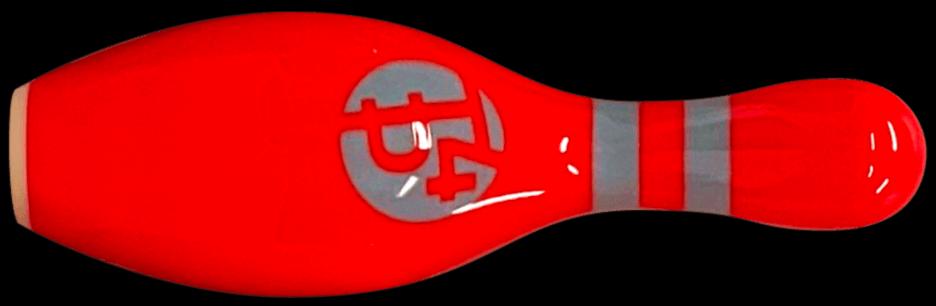 Red bowling pin