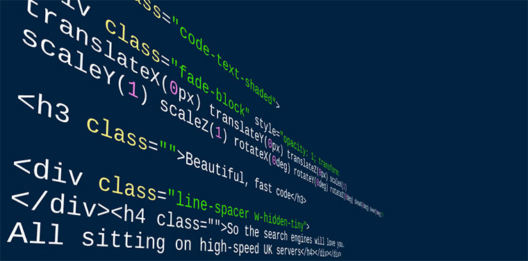 website design HTML code