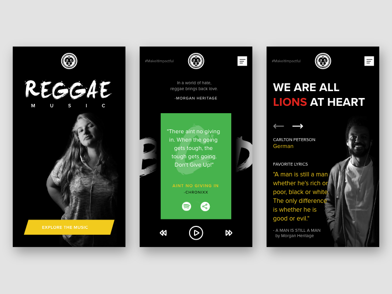Reggae Music Impact Responsive Website