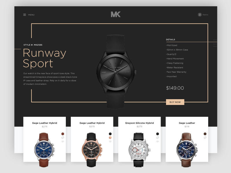 Shopping for Watches Ecommerce Website