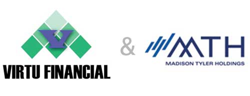 virtu financial and mth logos
