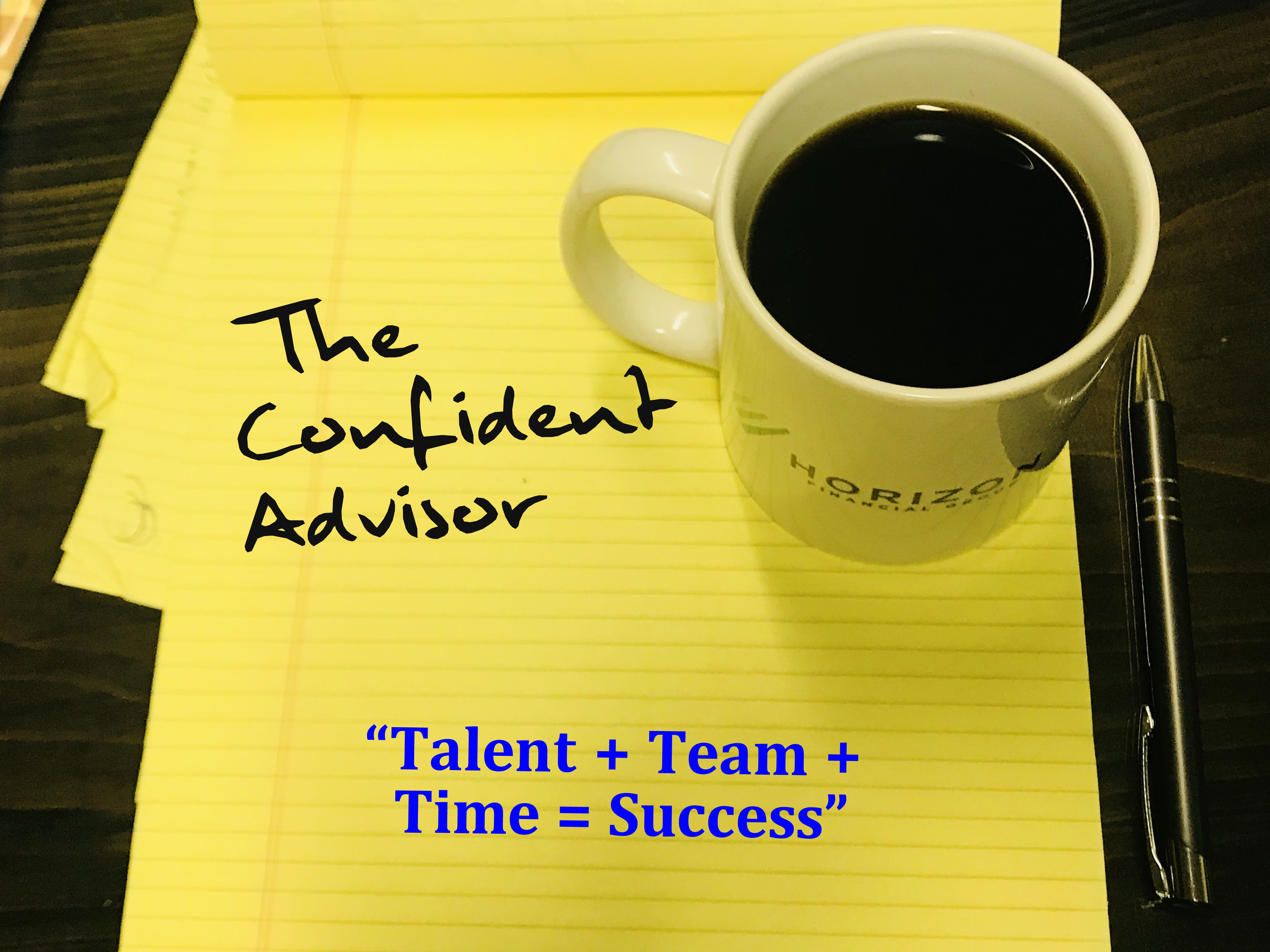 """Talent + Team + Time = Success"""
