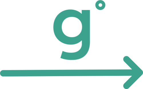 "Grantbook ""g"" icon over an arrow"