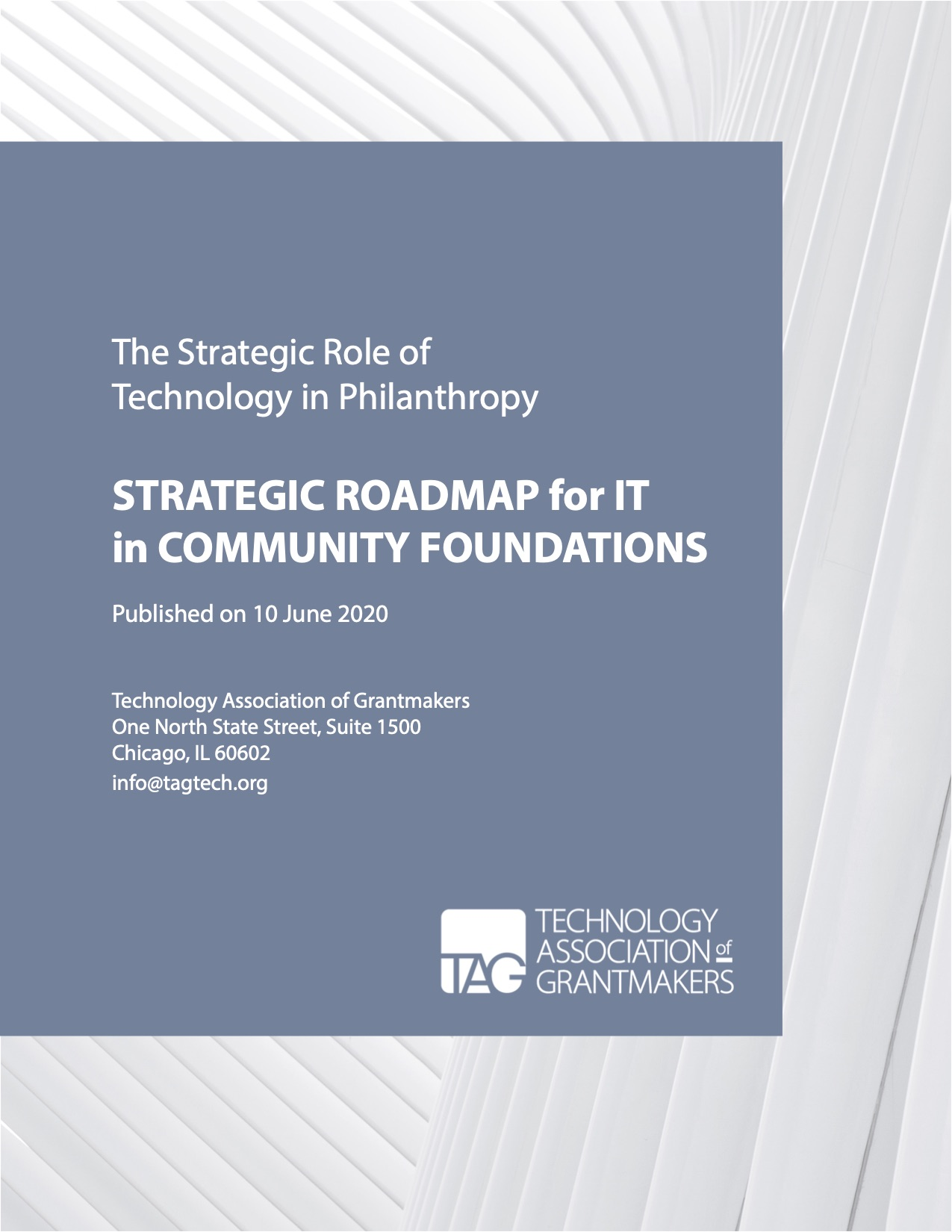 The cover image for Strategic Roadmap for IT in Community Foundations Whitepaper