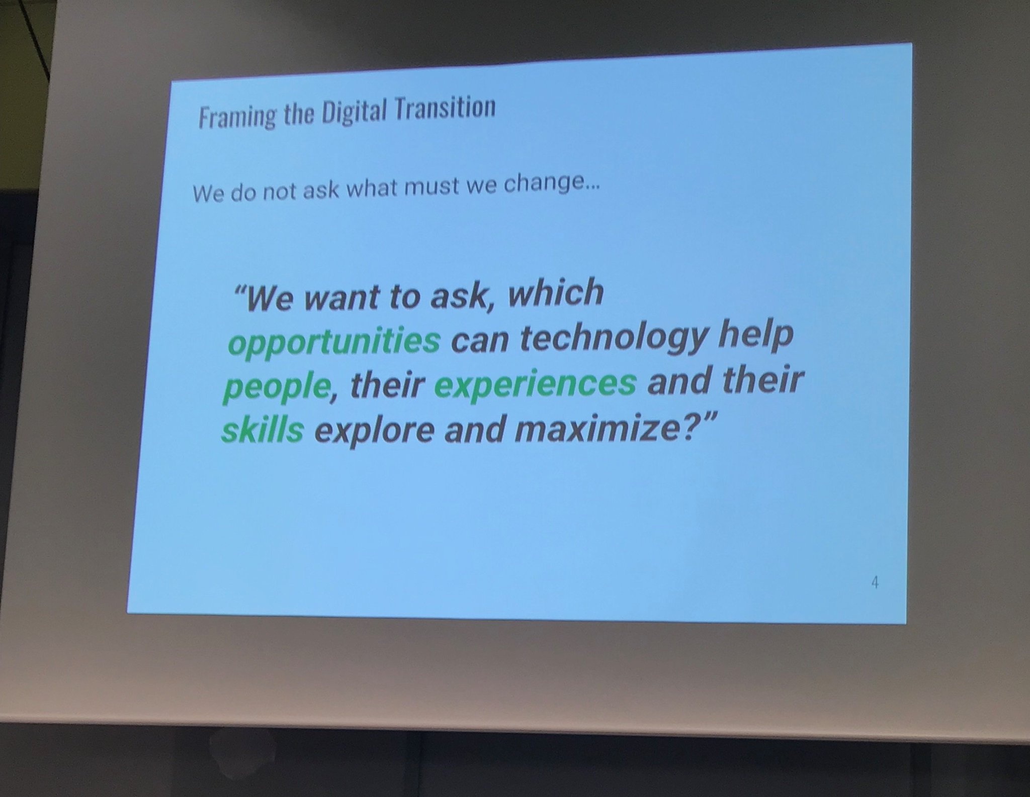 A photo of a slide from James' presentation at the German Philanthropy Day event.