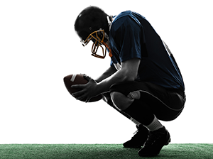 Football players are some of the most common sufferers of CTE