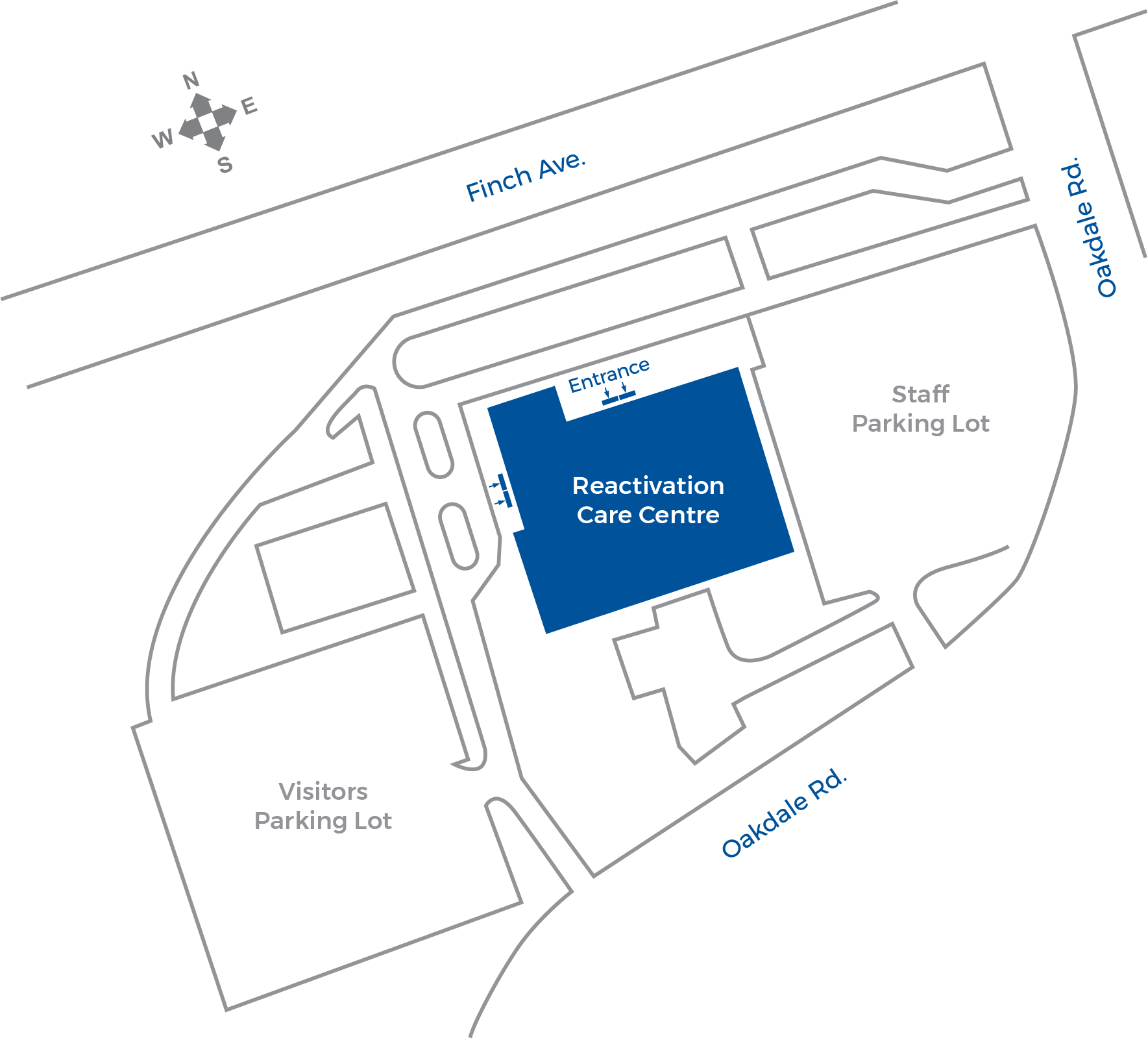 Illustration of the Reactivation Care Centre Map