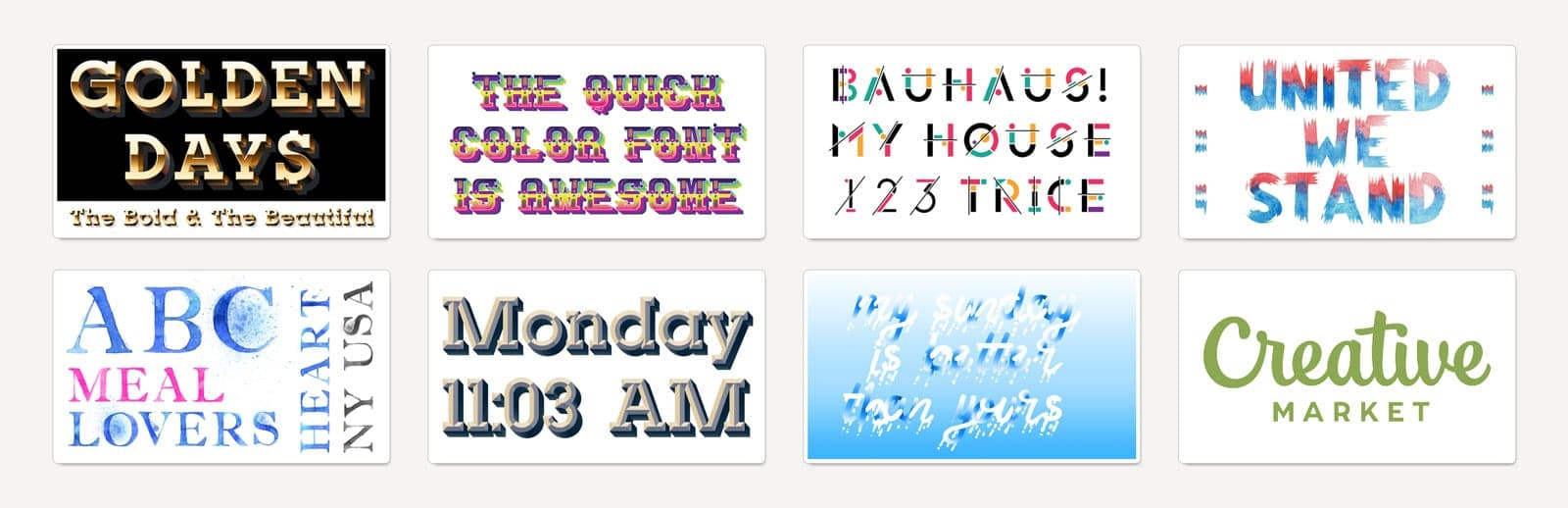 Color fonts collection