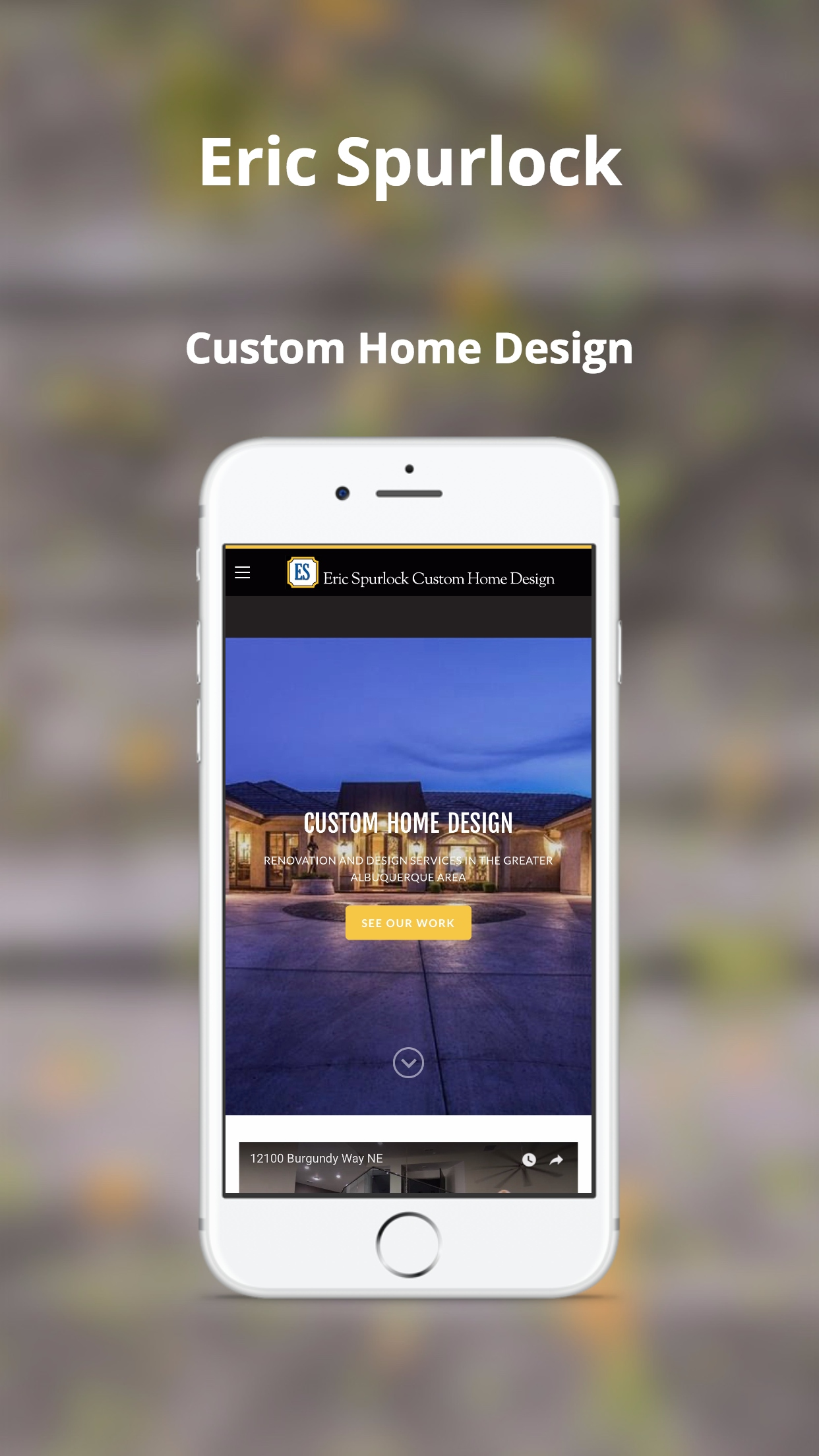 Eric Spurlock Custom Home Design on iPhone