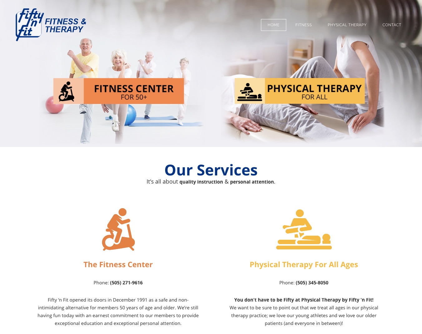 Fifty 'n Fit — Fitness Center for 50+, Physical Therapy for all ages