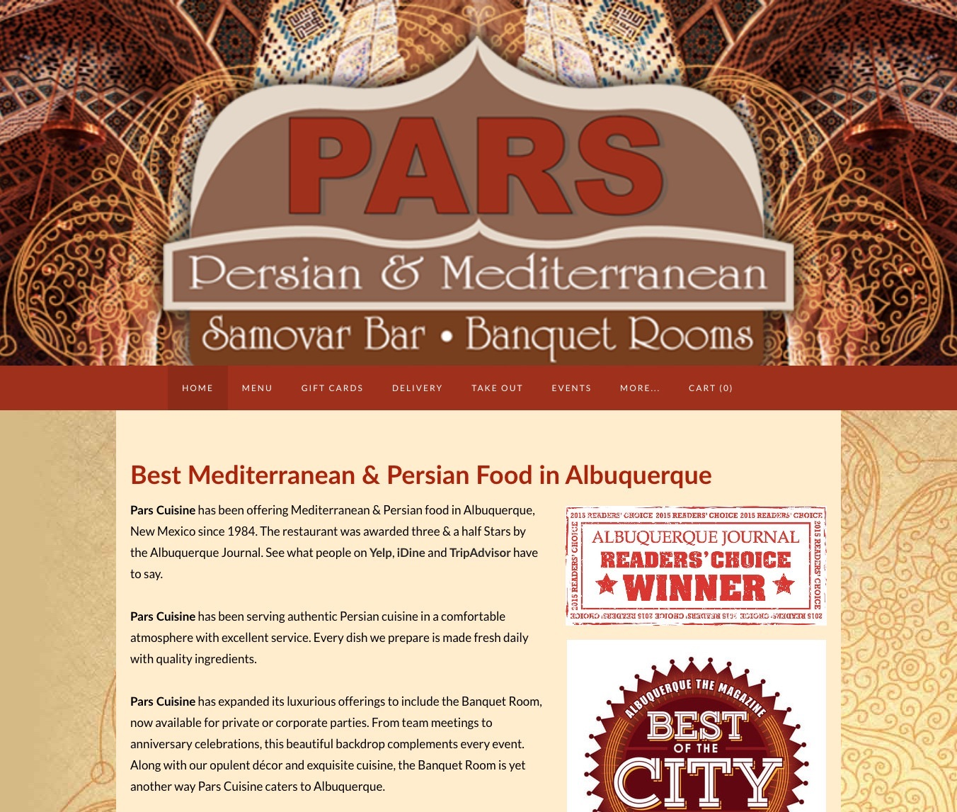 Pars Cuisine — Best Mediterranean & Persian Food in Albuquerque