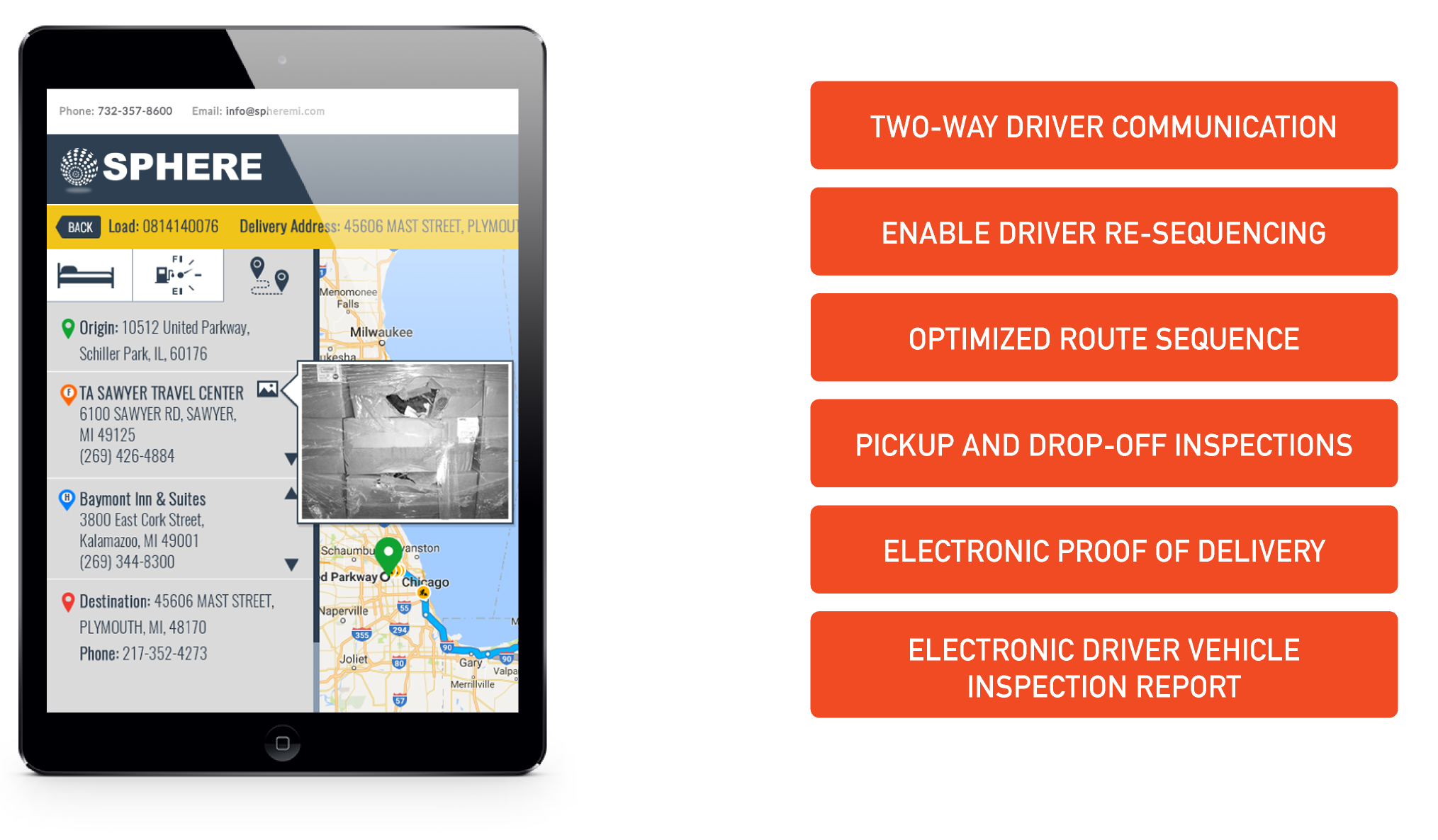 Mobile solutions for trucking