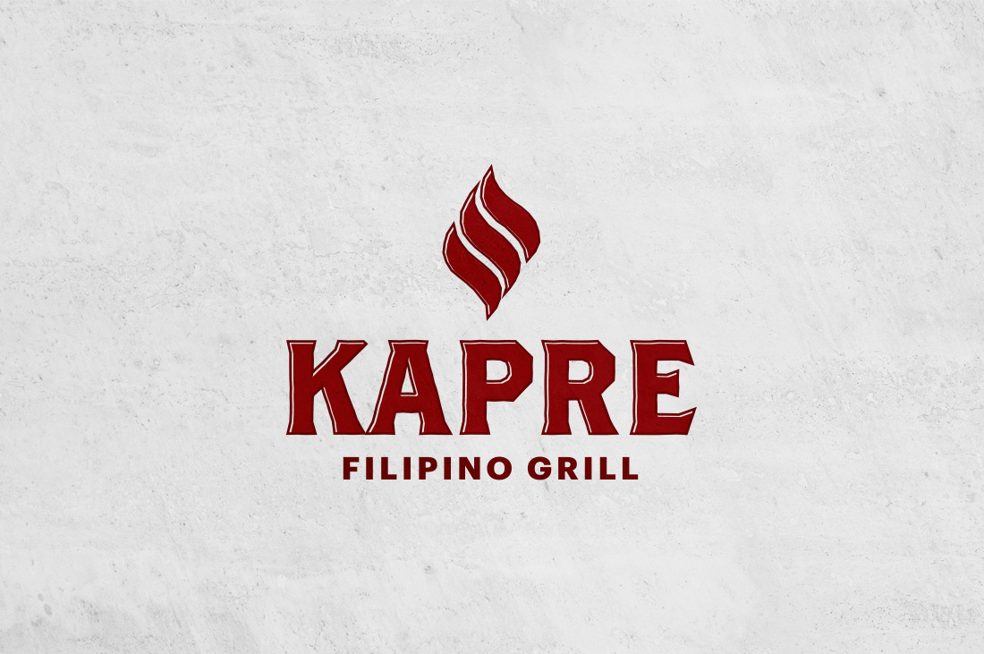 Kapre Filipino Grill Logo design