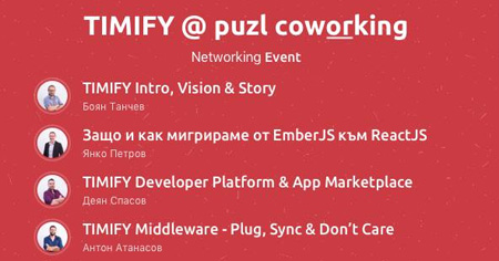 Networking event: Timify at Puzl Coworking