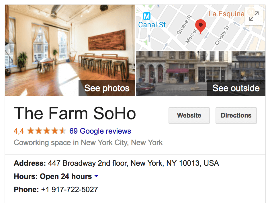 Google Business Listing for Coworking Spaces