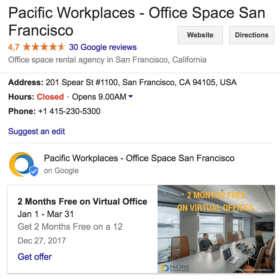 Local SEO Coworking Spaces