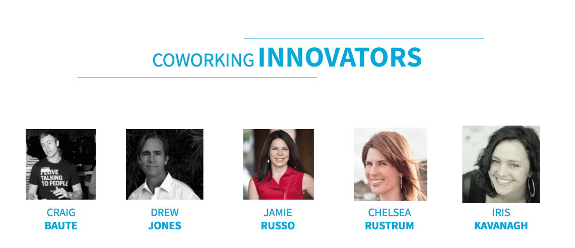 Coworking Innovators Coworking Influencers 2018