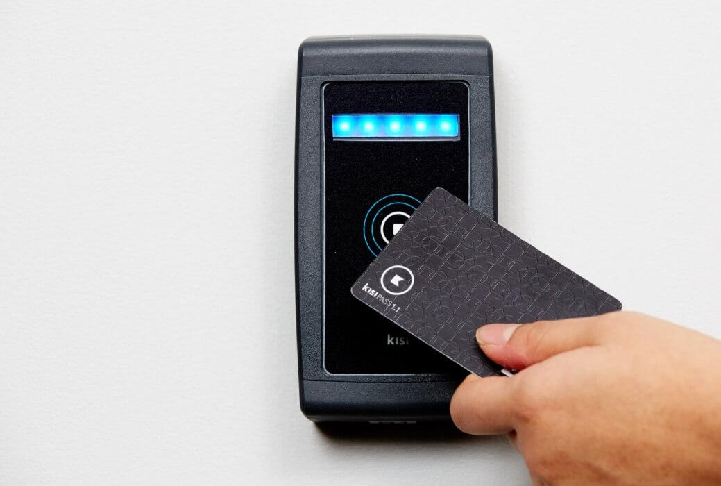 RFID keycard reader