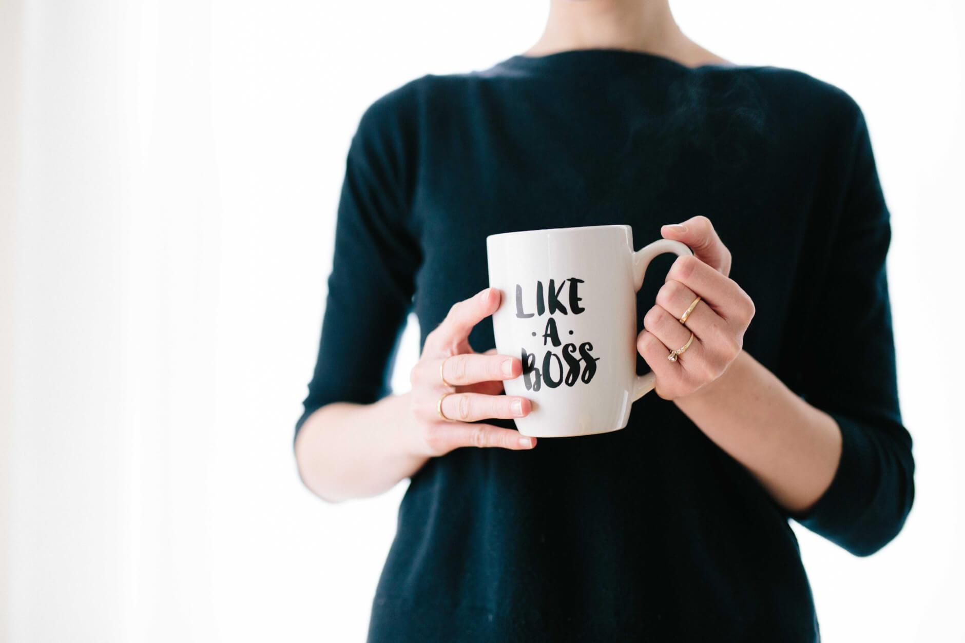 like a boss mug