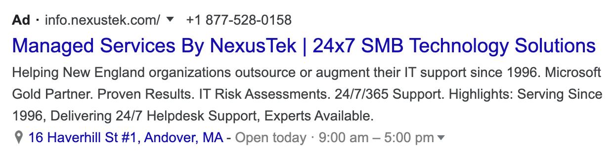 MSP google ads
