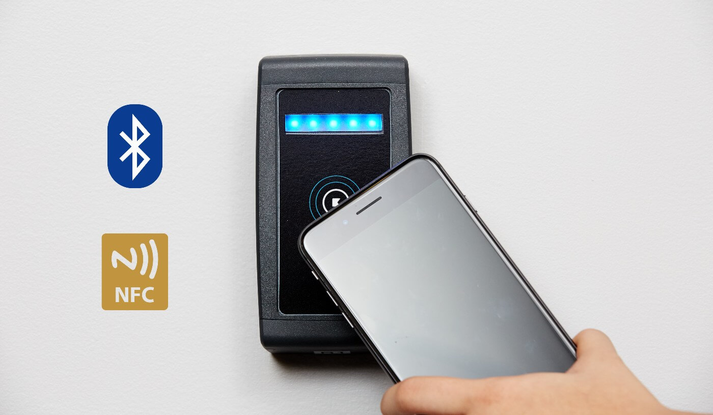 BLE and NFC Smartphone Door Access Control System
