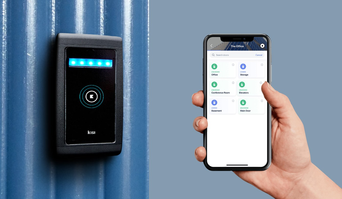 Kisi mobile app and NFC Door Reader