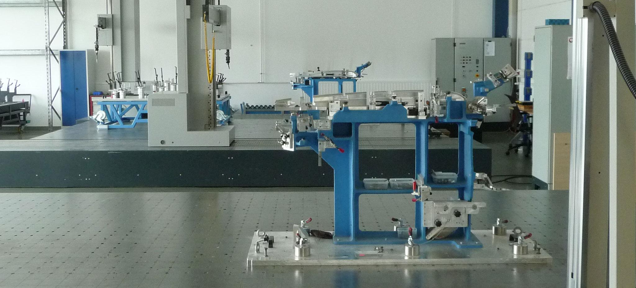 Taktiles Messen - Maschine Seitenansicht