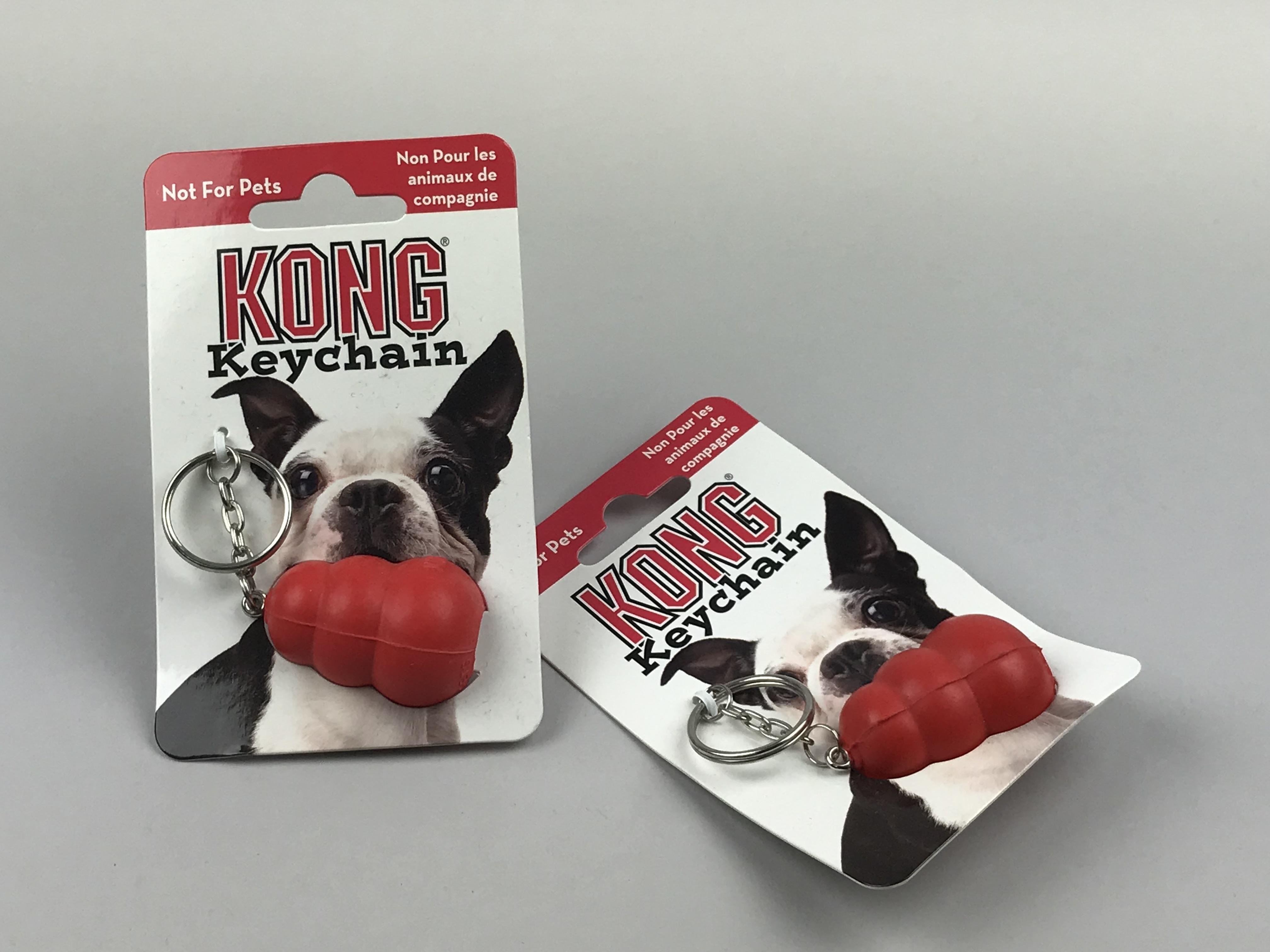 De enige echte originele Kong Company sleutelhanger. Bij ons verkrijgbaar. Het ultieme hondenbezitter cadeautje.