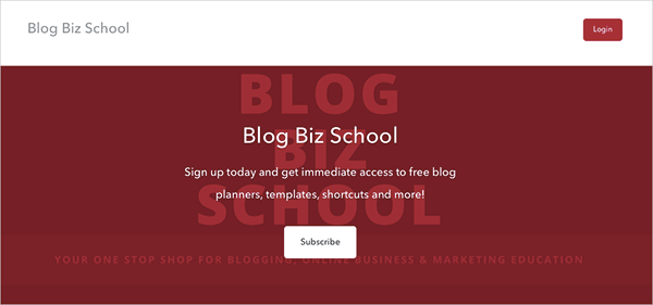 Blog Biz School