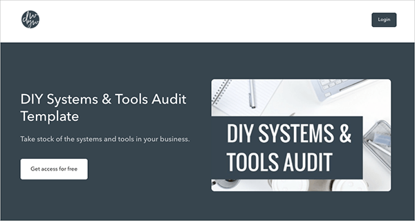 DIY Systems & Tools Audit Template