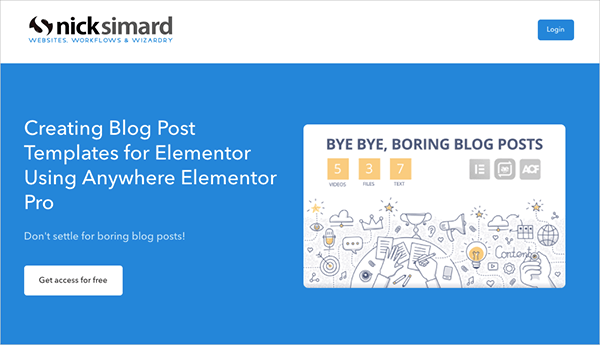 Creating Blog Post Templates for Elementor Using Anywhere Elementor Pro