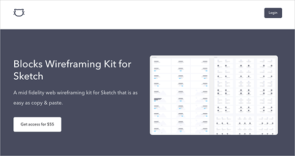 Blocks Wireframing Kit for Sketch