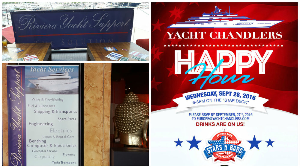 ''Happy Hour'' with Yacht Chandlers at Monaco Yacht Show 2016