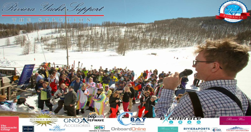 A great success!  The 2018 Riviera Yacht Support Snow Bonanza