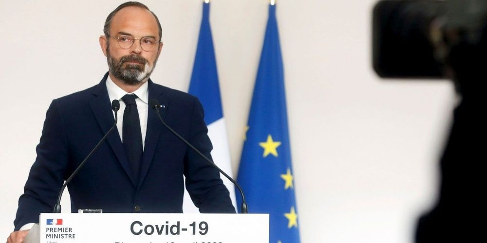 Covid - 19 Prime Minister Edouard Philippe presents the plan to reopen France from the 2nd of June.