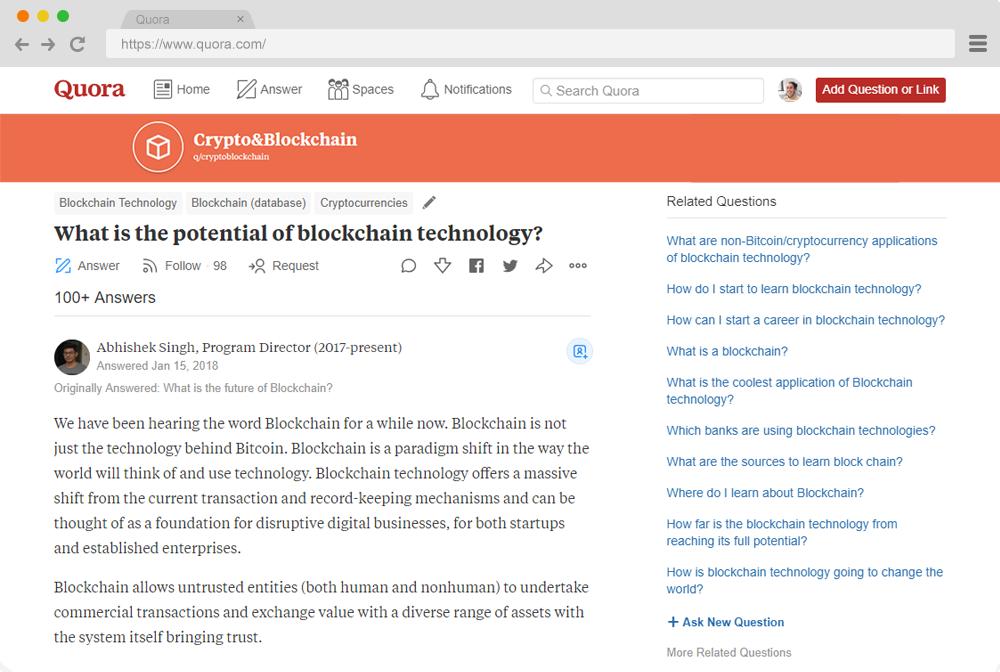 Quora Handbook - Building an Engaging Crypto Community