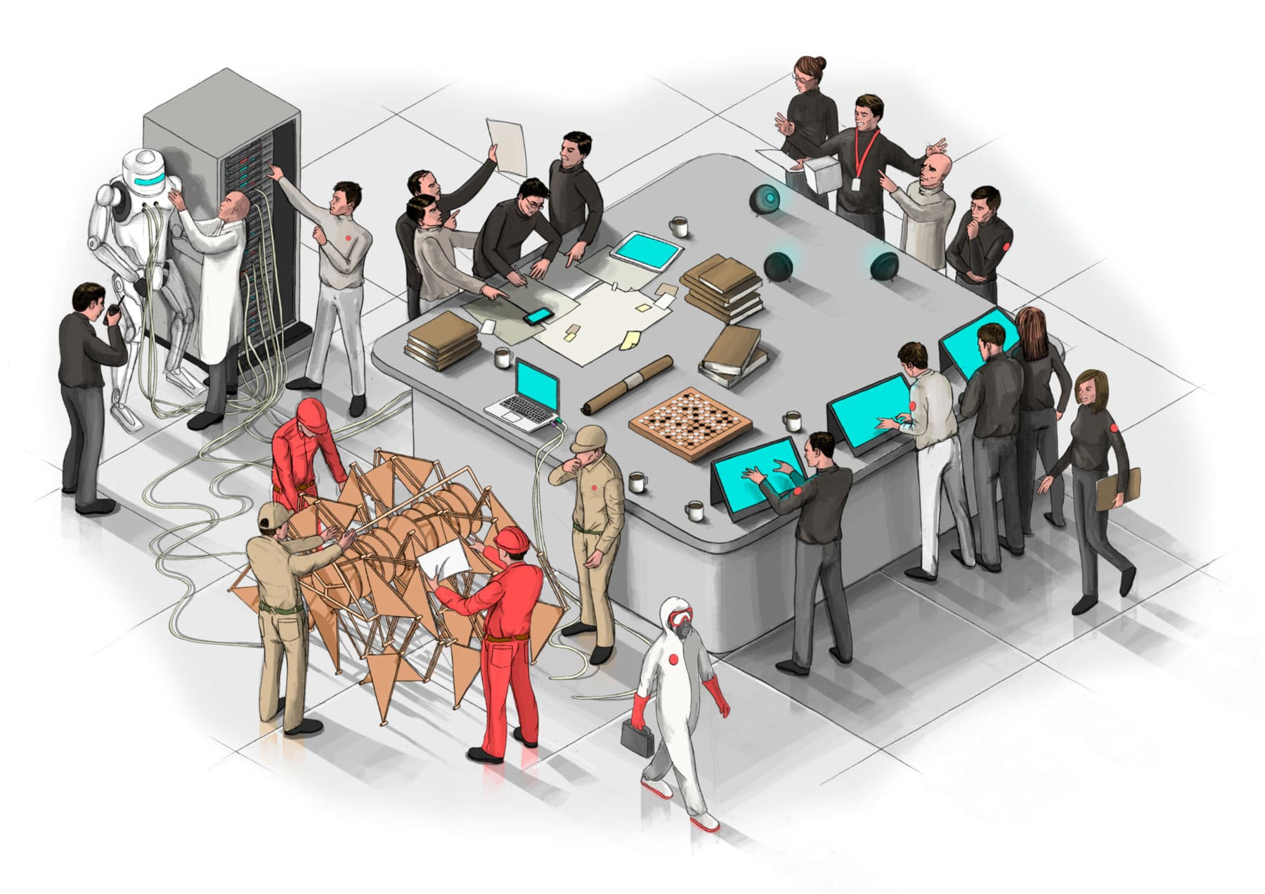 Outsourced Specialists Teams Illustration Homepage