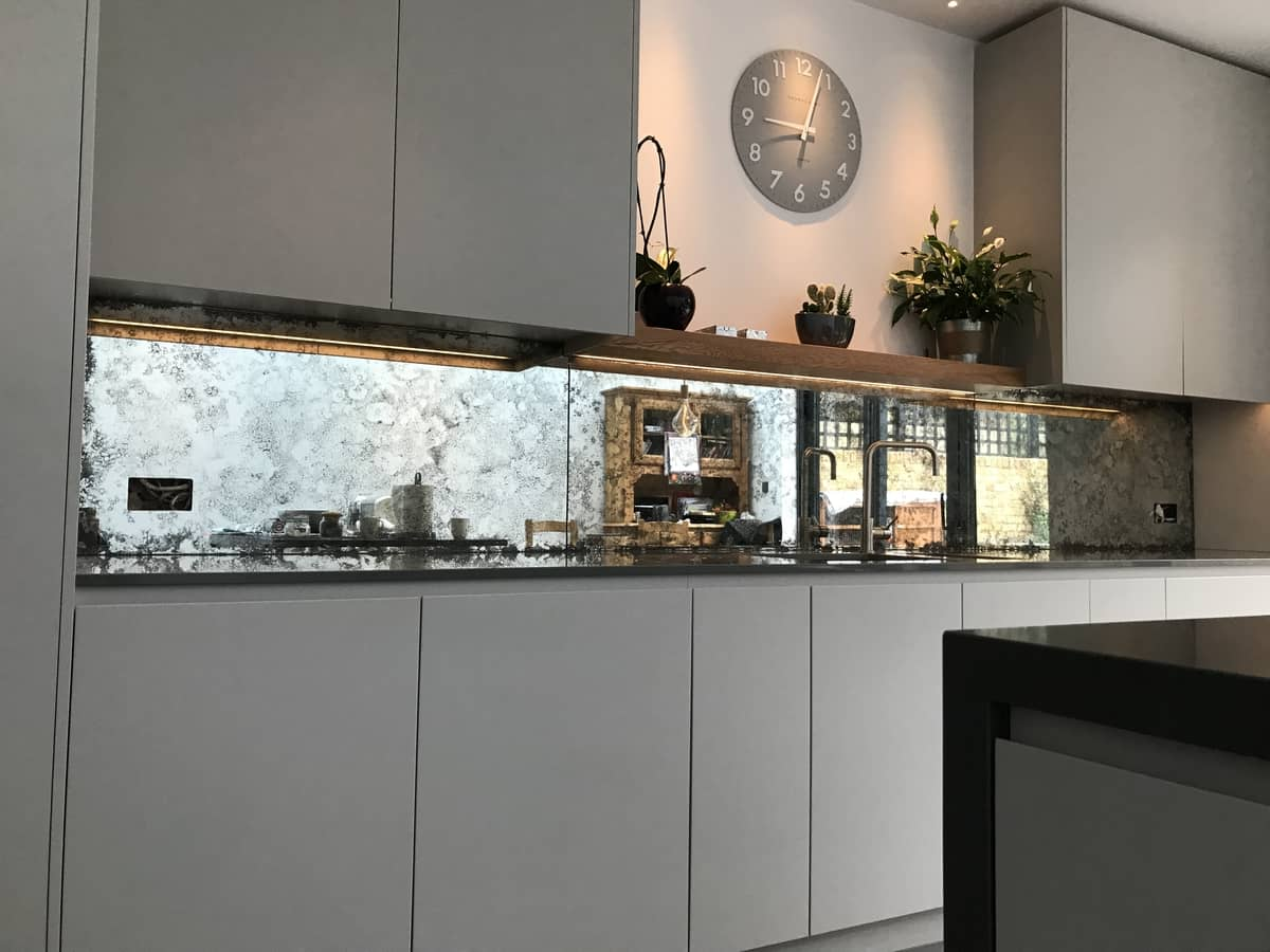 Original Vintage Antique Mirror Glass Splashback With A Um Intensity Of Distressing Throughout And Concentrated Edges Antiqued Subtle Movement In