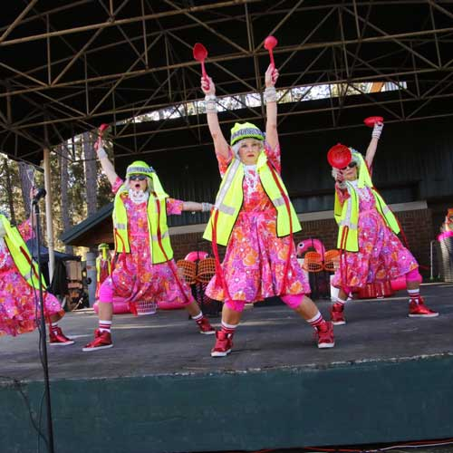 Women performing on stage