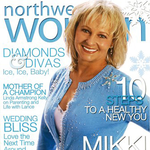 Woman on cover of magazine