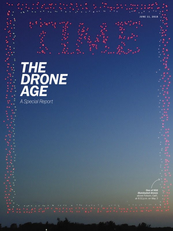 Nearly 1,000 Drones Come Together to Make TIME's New Cover